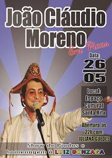 Photo of João Cláudio Moreno fará show em Picos no dia 26 de maio