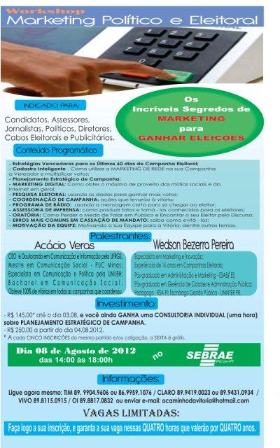 Photo of Evento em Picos irá abordar estratégias dos últimos 60 dias de campanha eleitoral