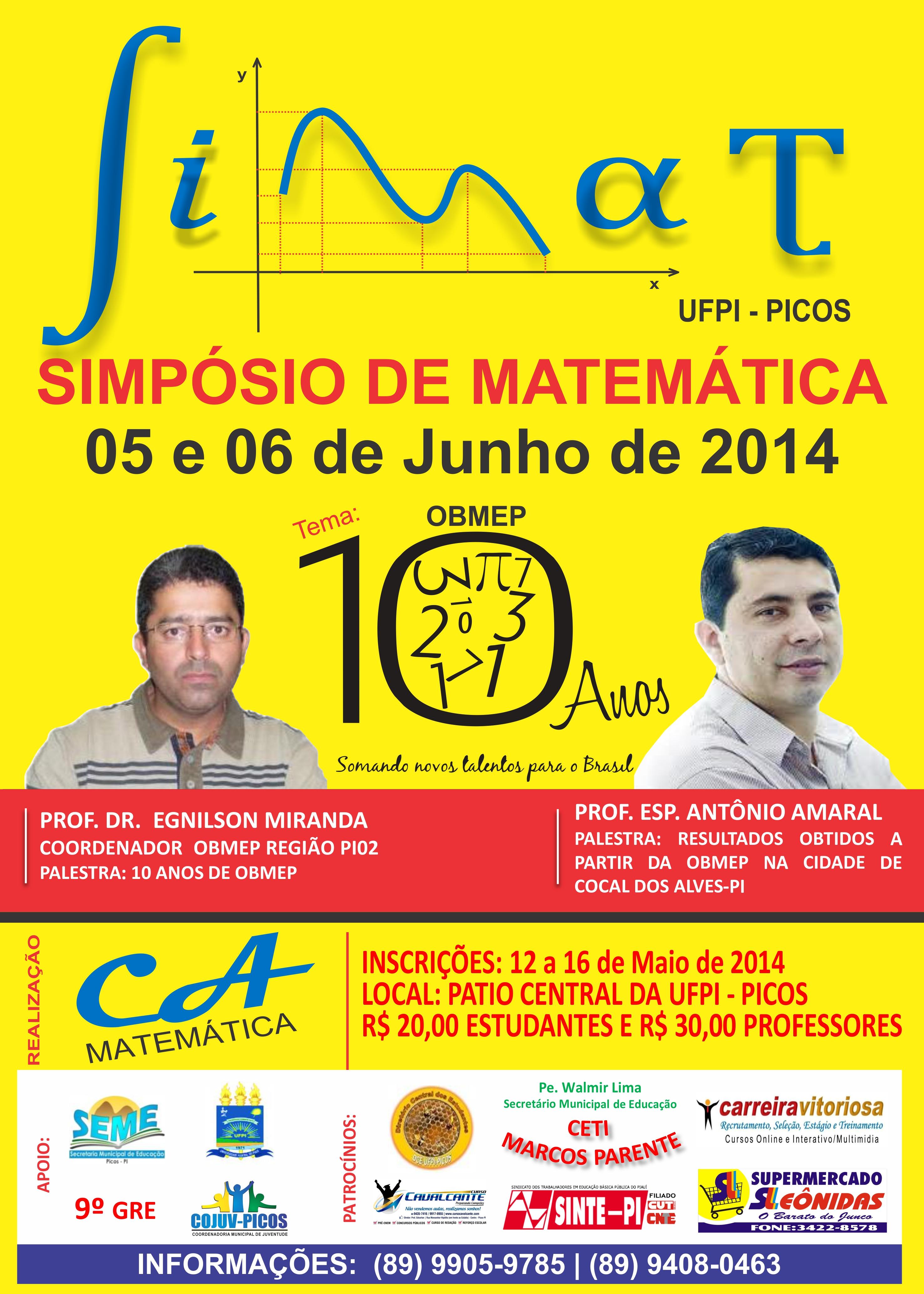 Photo of UFPI de Picos promove I Simpósio de Matemática