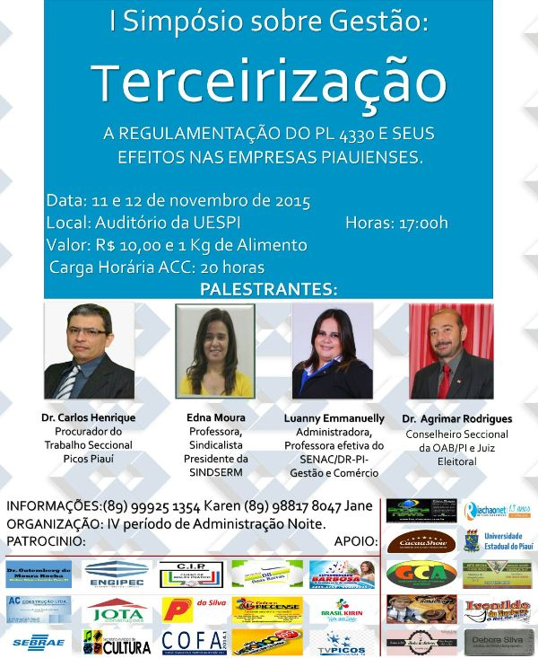 Photo of Simpósio sobre gestão será realizado em Picos