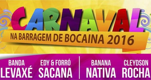 Photo of Prefeitura divulga as atrações do carnaval da Barragem de Bocaina 2016. Veja!