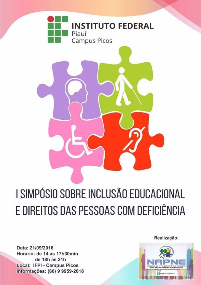 Photo of IFPI de Picos realiza I Simpósio sobre Inclusão Educacional e Direitos das Pessoas com Deficiência
