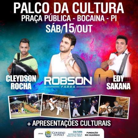 Photo of Palco da Cultura será realizado no município de Bocaina hoje, 15
