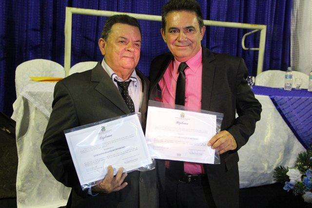Photo of Geminiano: Herculano Carvalho e Luiz Gonzaga são diplomados