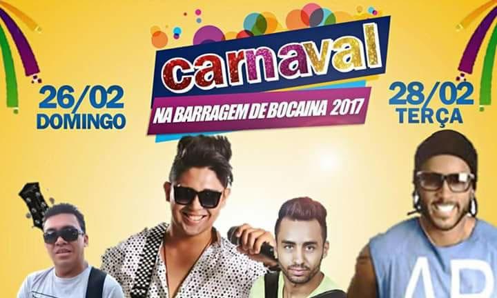 Photo of Confira a programação do 'Carnaval da Barragem' de Bocaina 2017