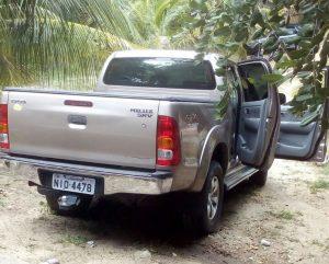 Hilux roubada em Alagoinha