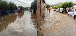 Com duração de uma hora, a chuva foi a maior já registrada no município esse ano.