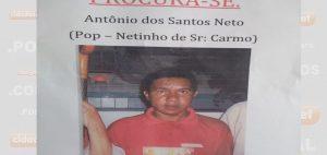 Quem tiver informações sobre o paradeiro de Antônio dos Santos, pode entrar em contato com Nelson através do número (89) 999374105