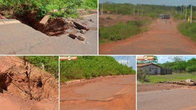 Photo of Crateras se abrem na rodovia que liga Picos a Itainópolis