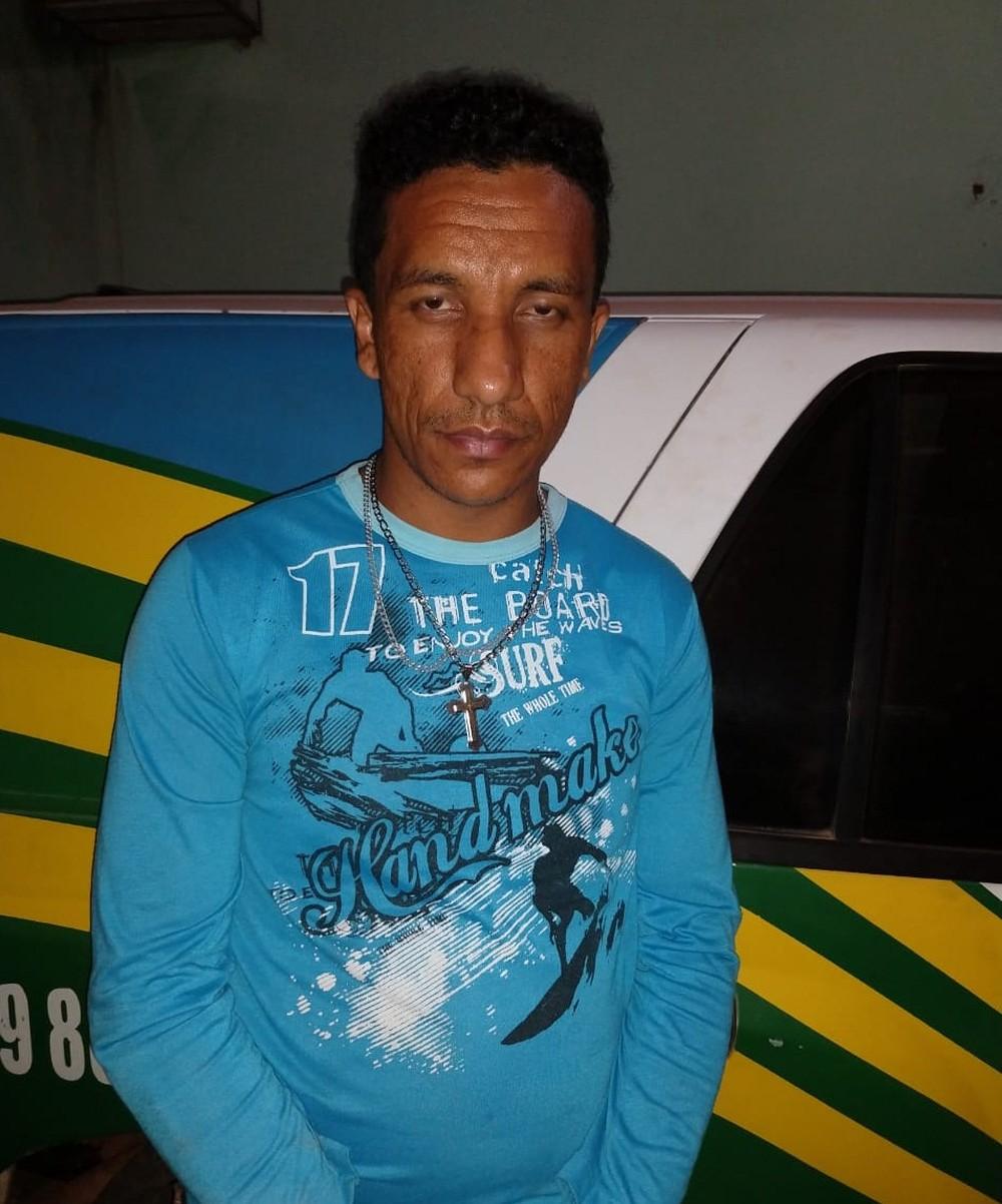 Suspeito de assassinar o enteado é preso no interior do Piauí — Foto: Polícia Militar do Piauí