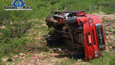 Photo of Populares saqueiam carga e roubam pneus de caminhão que tombou na BR 407