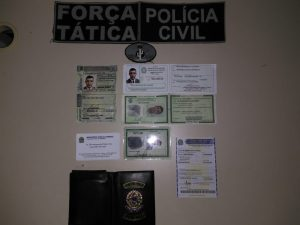Homem é preso com documentos falsos de procurador federal em Paulistana — Foto: Divulgação/Polícia Militar