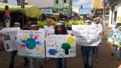 Photo of Mais de 200 alunos participaram da III Caminhada Ecológica das escolas municipais