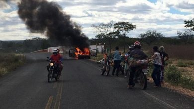 Photo of Carro pega fogo na rodovia PI-378 em Pio IX