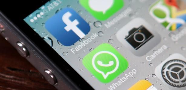 Facebook whatsapp aquisição compra fusão app redes sociais chamada logo logotipo Imagem: Justin Sullivan/Getty Images/AFP