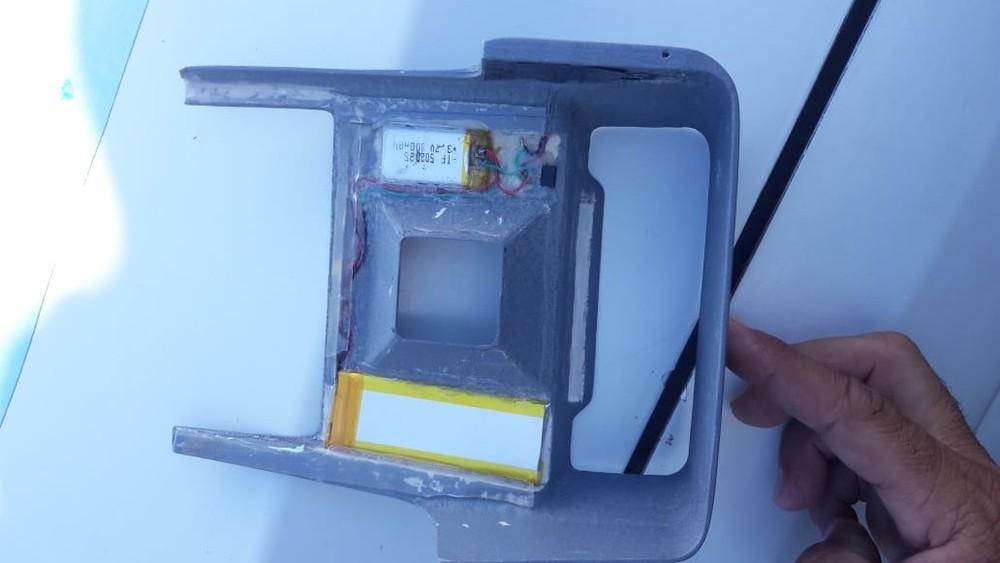 Fundo falso foi encontrado em caixa eletrônico de banco — Foto: Divulgação/PM