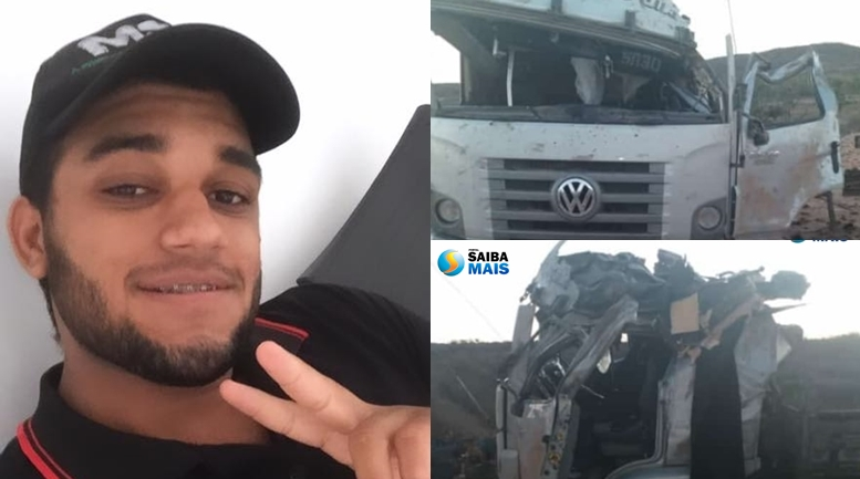 Cledes Gomes Bezerras Junior, 21 anos, tombou na BR-407 na altura do povoado Maria Preta