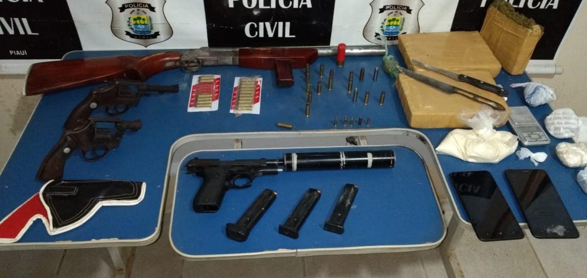 Armas apreendidas em Picos