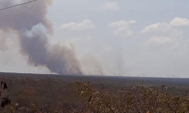 Incêndio na região de Pio IX