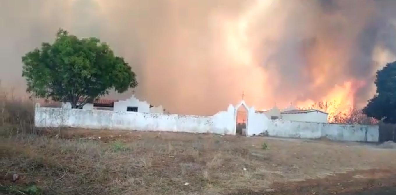 Incêndio na cidade de Sussuapara