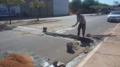 Photo of Redutores de velocidade são implantados em bairros de Picos