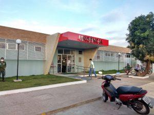Vítima foi levada para o Hospital Regional Justino Luz, em Picos — Foto: Divulgação/Ascom