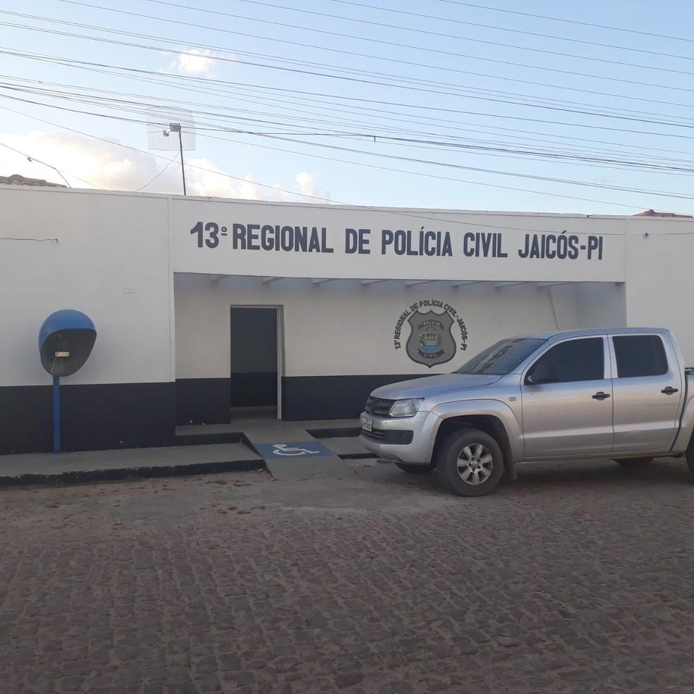 Delegacia Regional de Jaicós, Sul do Piauí. — Foto: Divulgação/Polícia Civil