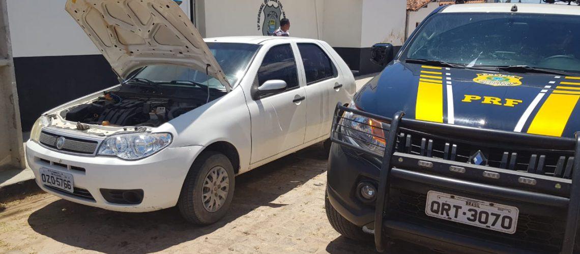 Veículo apreendido em Campo Grande do Piauí